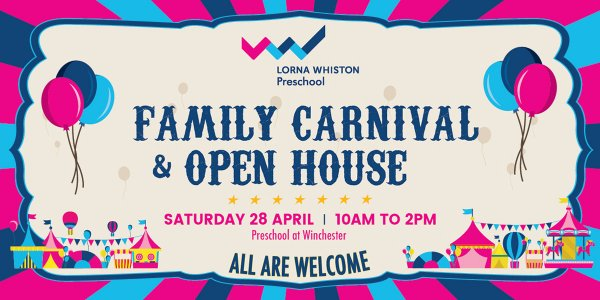 Join Us At Lorna Whiston Family Carnival & Open House At Our Preschool At Winchester