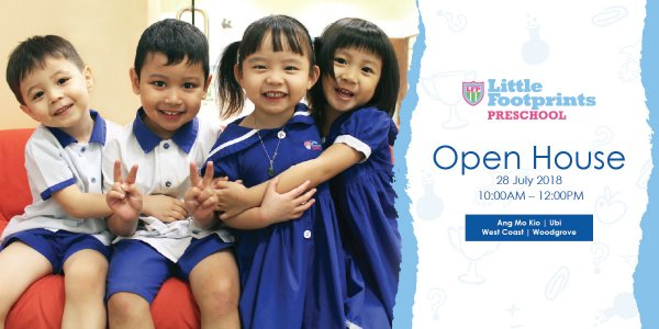 Open House @ Little Footprints Preschool (West Coast, Woodlands, Ang Mo Kio, and Ubi)