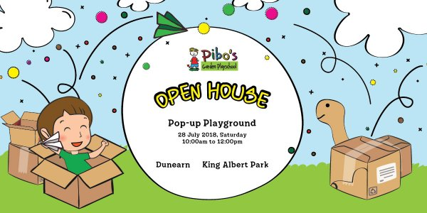 Pibo's Pop-up Playground Open House