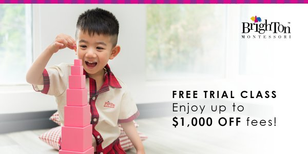 Book a Montessori trial class and enjoy up to $1,000 off!*