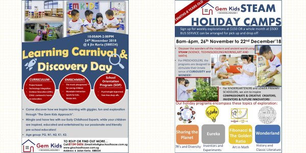 Learning Carnival & Discovery Day @ Gemkids Schoolhouse