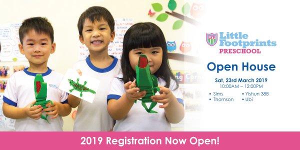 Open House @ Little Footprints Preschool (Sims, Thomson, Ubi and Yishun 388)