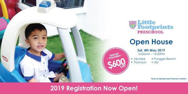 Open House @ Little Footprints Preschool (Aljunied, Thomson, Punggol Beach and Ubi)