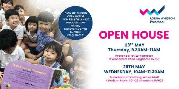 Open House at Lorna Whiston Preschool Kallang Wave Mall
