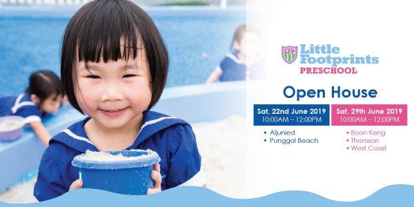 Open House @ Little Footprints Preschool (Aljunied, Punggol Beach, Boon Keng, Thomson and West Coast)