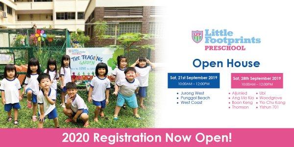 Open House @ Little Footprints Preschool (Jurong West, Punggol Beach, West Coast, Aljunied, Ang Mo Kio, Boon Keng, Thomson, Ubi, Woodgrove, Yio Chu Kang and Yishun 701)