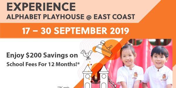 Experience Alphabet Playhouse @ East Coast Centre  (17-30 September)
