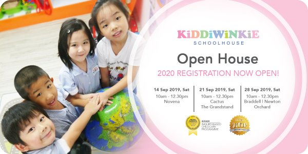 [OPEN HOUSE] Kiddiwinkie Schoolhouse @ Novena, Cactus, The Grandstand, Braddell and Newton