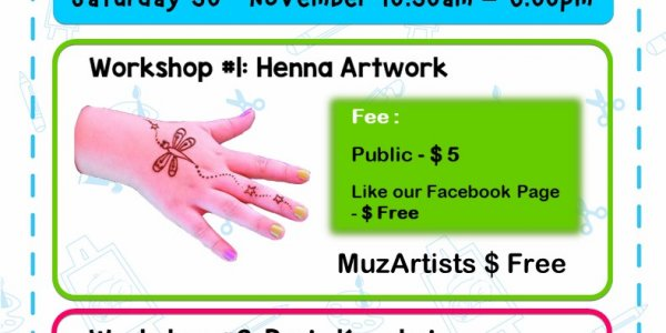 Henna & Resin Key Chain Workshop