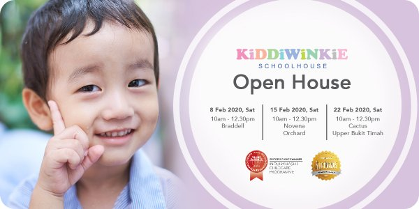 [OPEN HOUSE] Kiddiwinkie Schoolhouse @ Braddell, Cactus, Orchard, Novena and Upper Bukit Timah