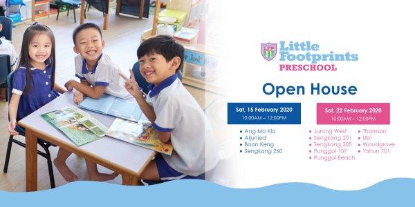Open House @ Little Footprints Preschool (Ang Mo Kio, Aljunied, Boon Keng, Sengkang 260, Jurong West, Sengkang 201, Sengkang 205, Punggol 107, Punggol Beach, Thomson, Ubi, Woodgrove, Yishun 701)