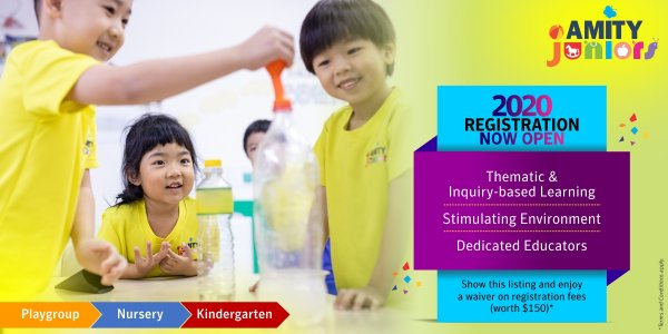 Registration 2020 @ Amity Juniors - Waiver of Registration Fees  (worth $150*)