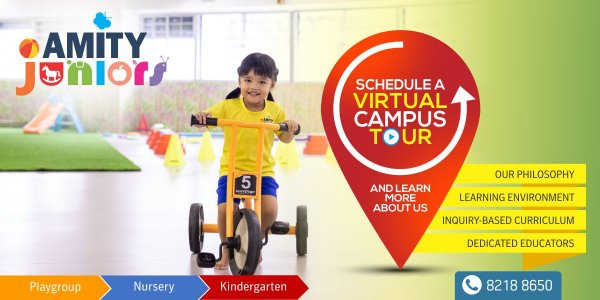 Schedule a Virtual Campus Tour at Amity Juniors Preschool