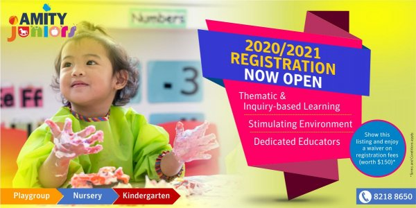 Registration 2020/2021 @ Amity Juniors - Waiver of Registration Fees (worth $150*)
