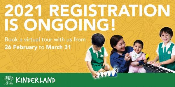 Kinderland Enrolment Registration for 2021 is Ongoing!