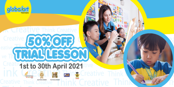GLOBAL ART TAMPINES CENTURY SQUARE 50% OFF TRIAL LESSON